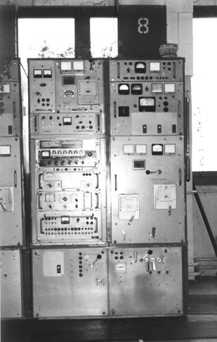 "2.5/5 kW SW communications radio transmitters ""Viaz-M2"" (USSR), used at the local radio jamming stations in the late 70's and 80's."